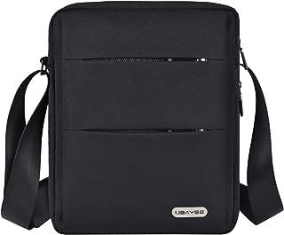 UBAYEE Bolso Hombre Bandolera de Lona con Multibolsillos (Compatible con 11 Pulgadas Tablet iPad Mini, 27 cm), Bolsillo de...