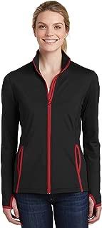 Women's Stretch Contrast Full-Zip Jacket_Black/ True Red_S