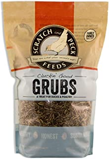 Scratch and Peck Feeds - Cluckin' Good Grubs Tasty Treats for Chickens and Ducks - Dried Black Soldier Fly Larvae