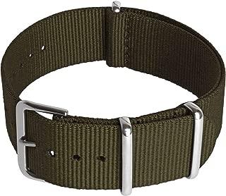 Correa Reloj (24|22|20|18mm) NATO Strap Reloj Correa Zulu con Hebilla de Acero Inoxidable para Relojes con Barra de Resorte