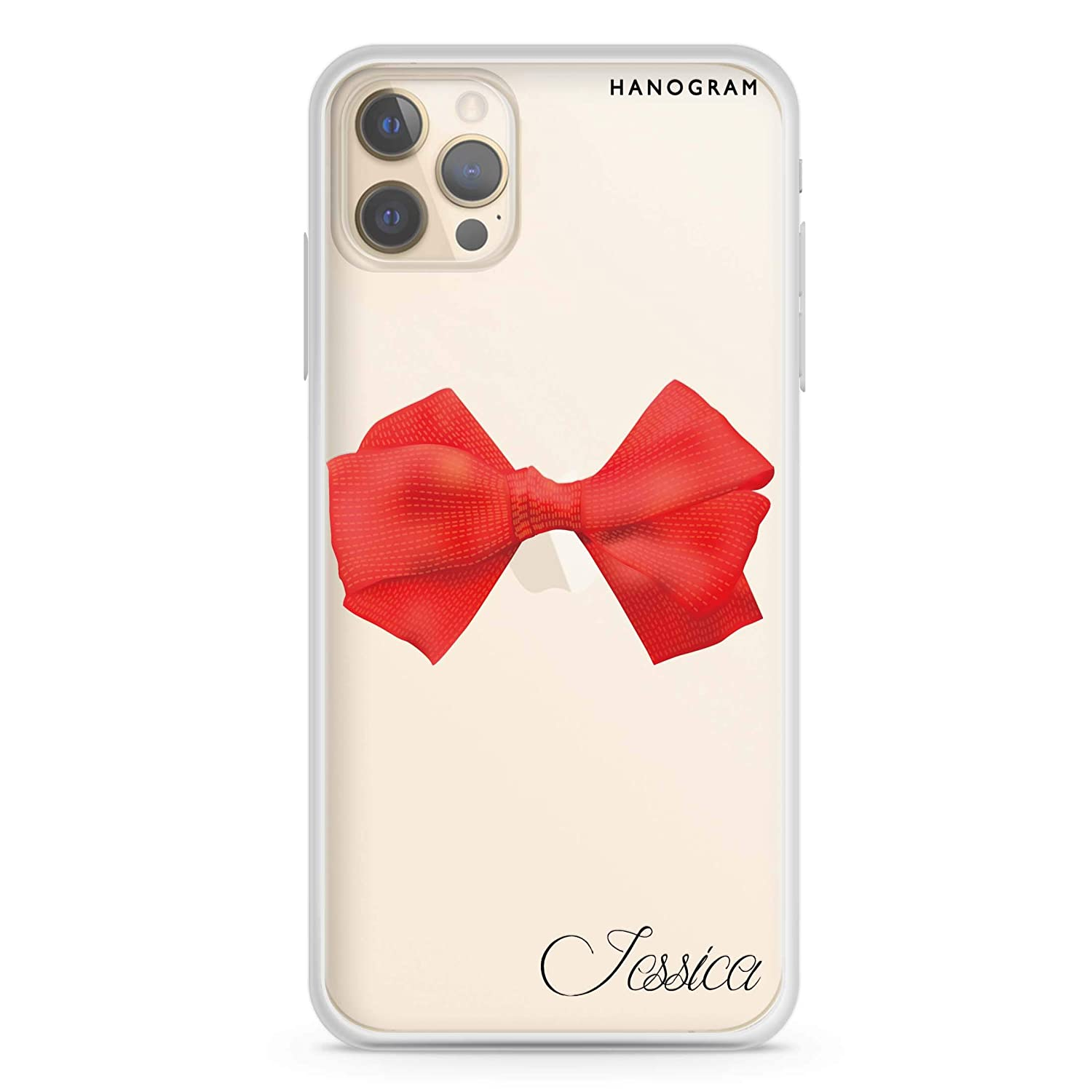 2021 Red NEW before selling Bow iPhone 12 Pro Clear Max Case Soft