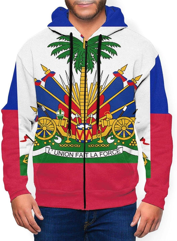 Hello Gorgeous Full-Zip Max 65% OFF Sweatshirt Hoodie Flag For Men Haiti Of quality assurance