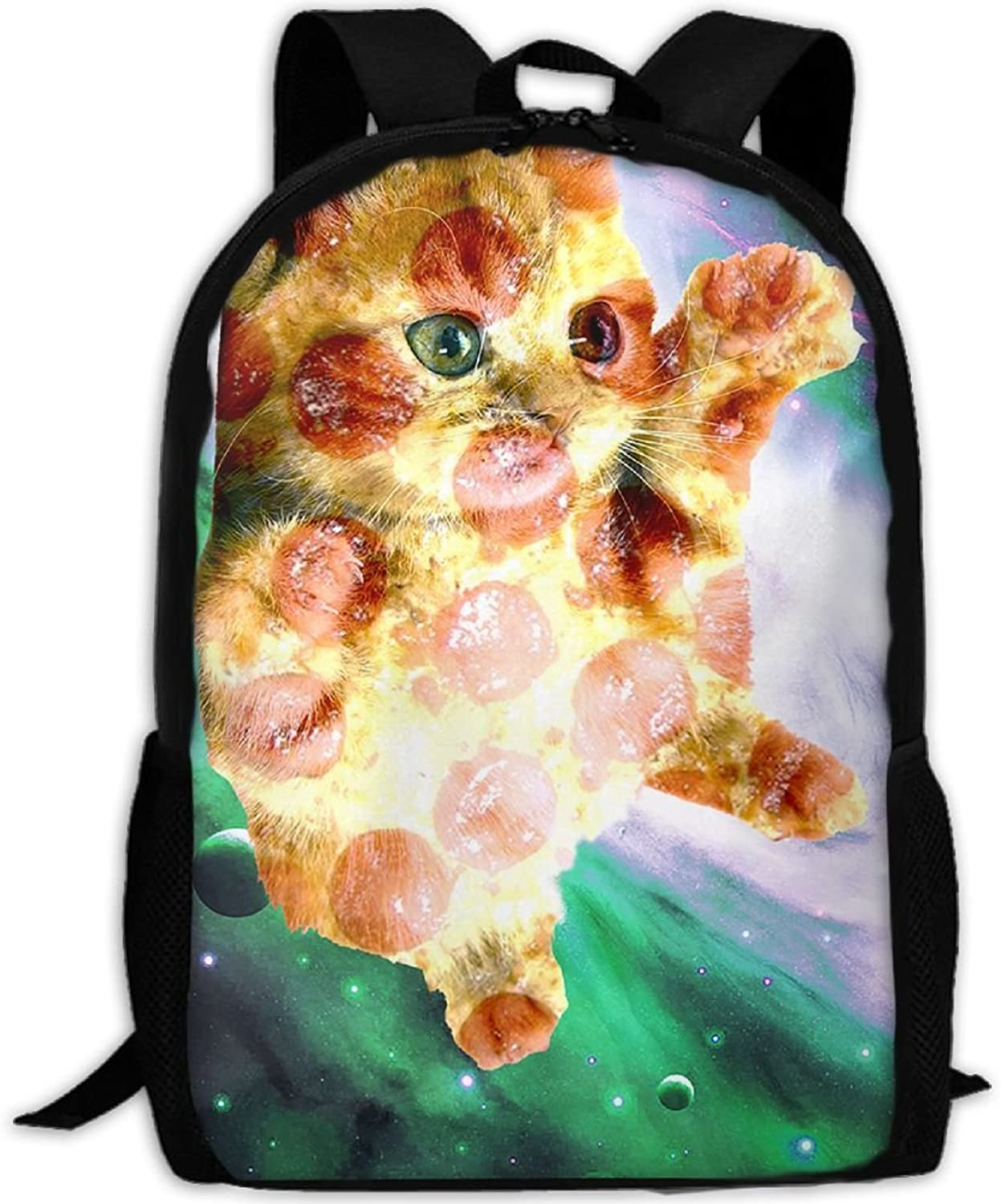 0a97889ee751 Backpack Laptop Hiking School Bags Pizza Cat Space Daypack Shoulder ...