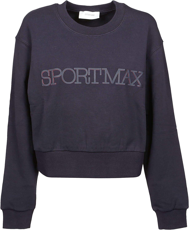 SportMax Women's 29210197600003 blueee Cotton Sweatshirt