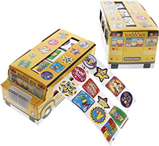 Juvale 1080 Count Children's Stickers - Assorted Motivation Sticker Rolls School Student Encouragement School Bus Sticker - 5.75 x 2.75 x 2.5 inches