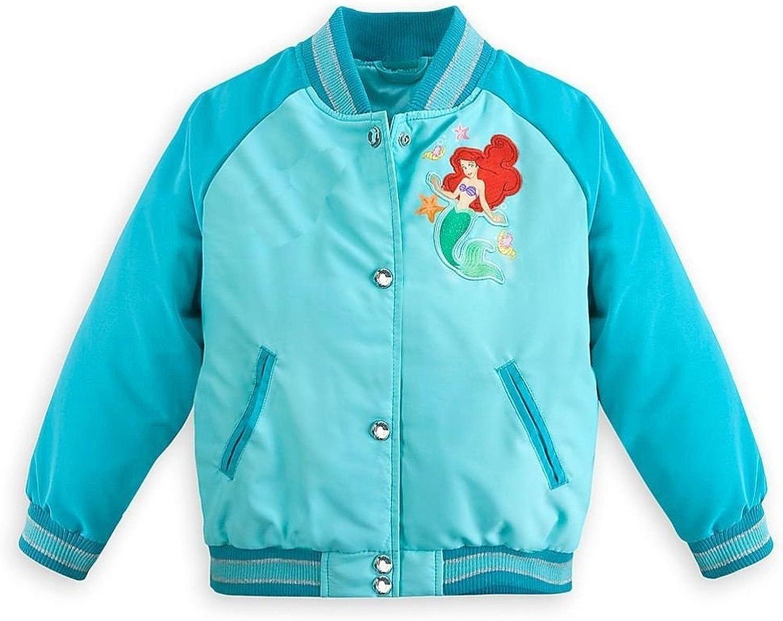 Disney Store Princess The Little Mermaid Ariel Girls Varsity Jacket Size 5/6