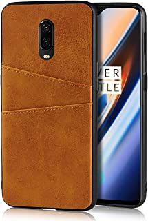 Compatible with OnePlus 1+ 6T Case,Jaorty Slim PU Leather Back Case Cover with Credit Card Holder Durable Protective Cover Case for OnePlus 1+ 6T (Khaki)