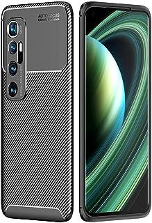 Toppix 対応: Xiaomi Mi 10 Ultra ケース, 保護カバーTPU, 保護バンパー 弾力性付き [特化した] [カーボンルック] 耐衝撃バンパー Xiaomi Mi 10 Ultra用 カバー (ブラック)