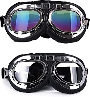 Yu-Xiang Dog Windproof Glasses Large Dog Sunglasses Pet Folding Winter Windproof Sunglasses Sled Dog Goggles (Colorful+ Wh...