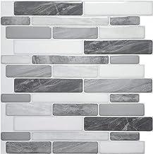 Art3d 10-vel Peel and Stick Tiles Zelfklevende Tegels Backsplash Voor Keuken, Vinyl Decoratieve Wandpaneel Marmeren Stijl,...