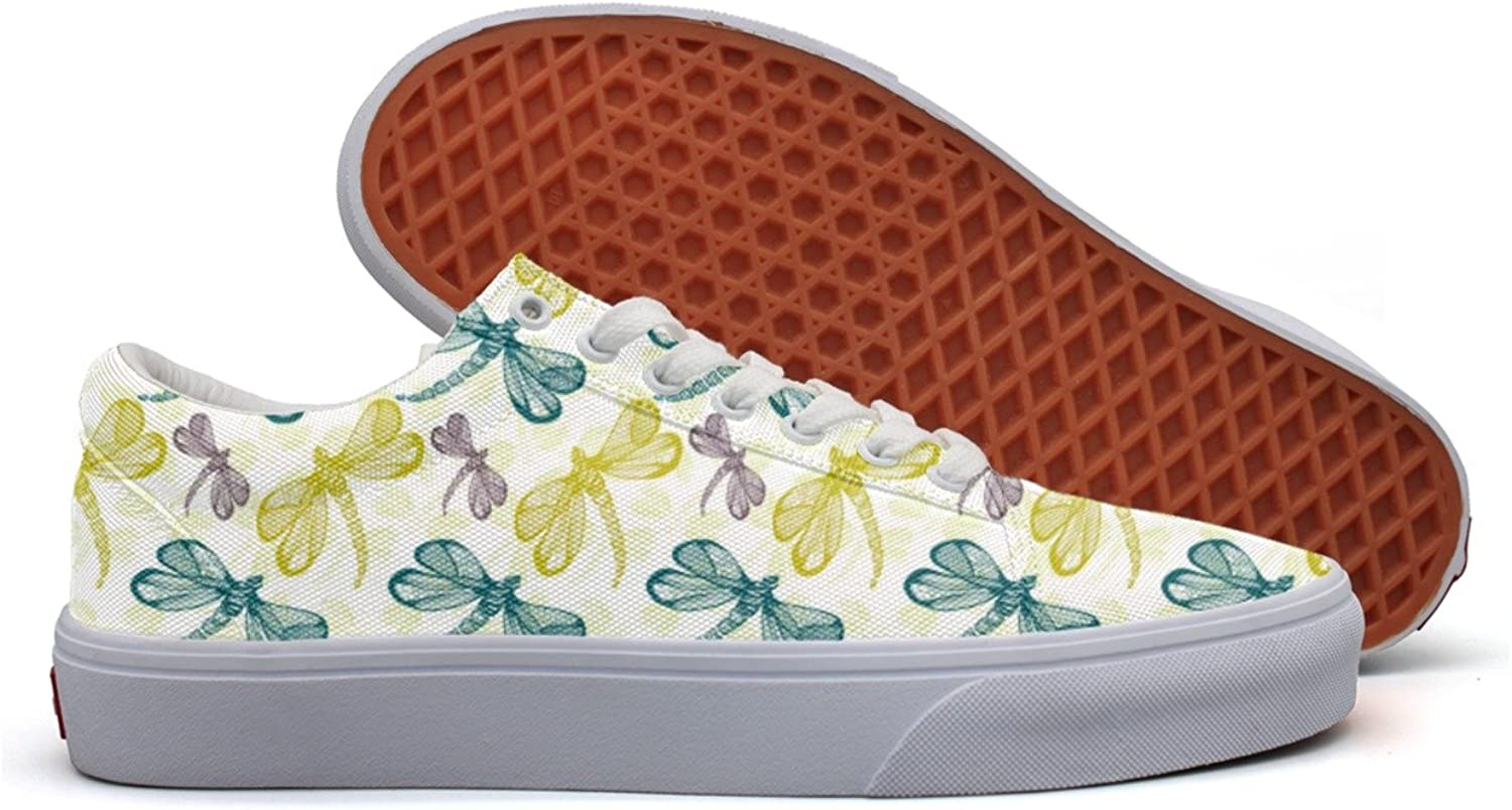 Dragonfly Patterns Women's Casual Sneakers shoes Slip-On Slip Nursing Trainers