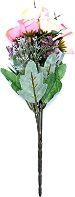 Itsy Bitsy Artificial Flower Bunch (Multicolour, 1 Piece)