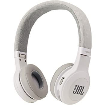 JBL E45BT On-Ear Wireless Headphones (White) (Renewed)