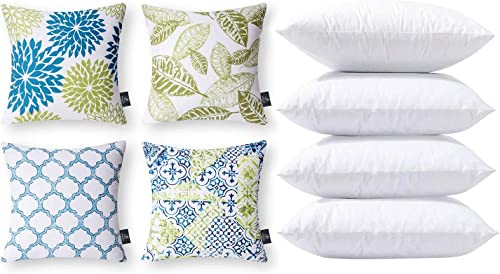 popular Phantoscope Bundles, Set of 4 New Living Series Blue online and Green Pillow Covers 18 x 18 inches & Set of 4 Pillow discount Inserts 20 x 20 inches online