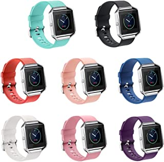 GinCoband 8PCS Fitbit Blaze Bands Replacement for Fitbit Blaze Smart Watch No Tracker Large Small Women