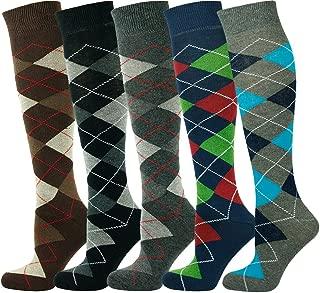 Unisex Knee High Long Socks Argyle