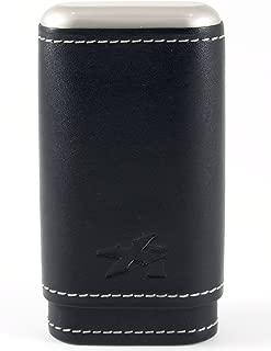 Envoy Leather 3 Cigar Case, Black