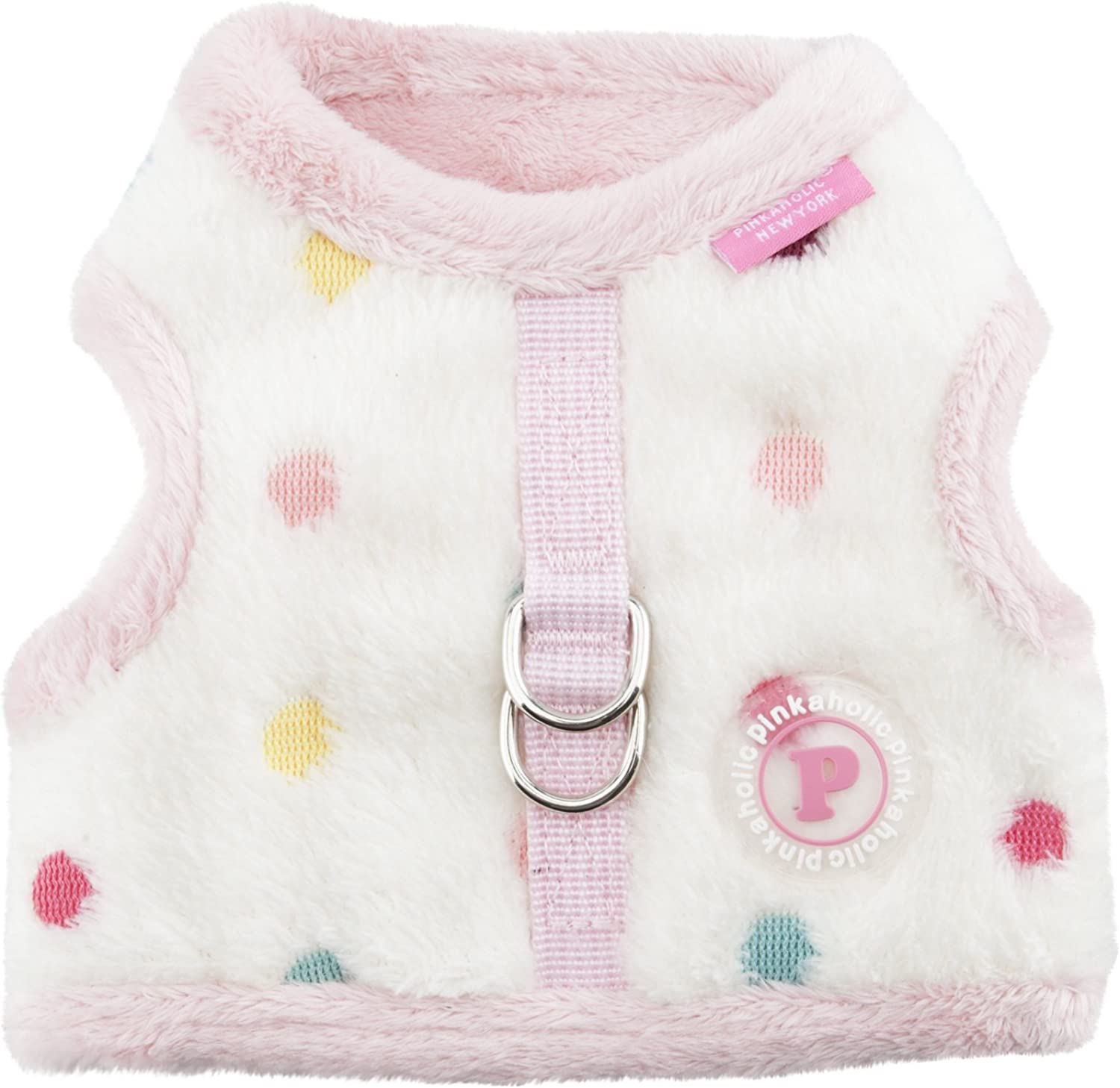 Pinkaholic New York Candyland Pinka Harness for Pets, Ivory, Small
