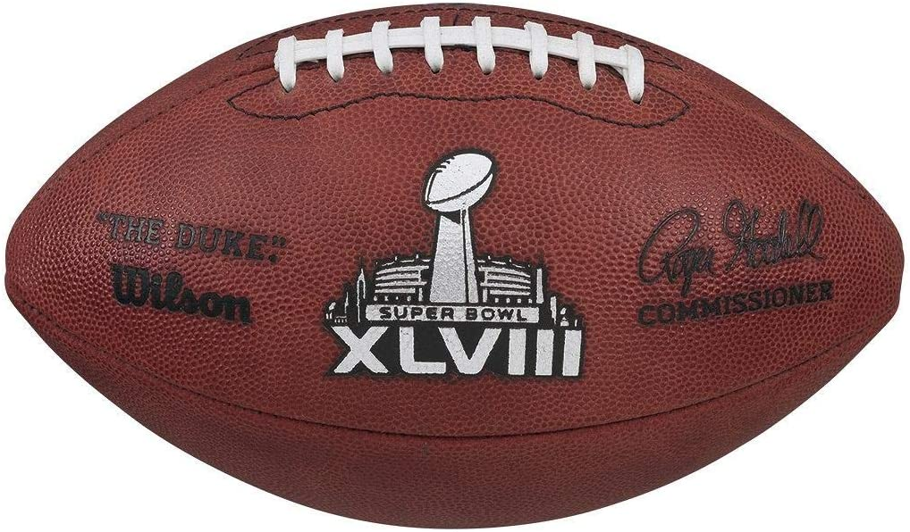 Unsigned Official Super Bowl XLVIII Leather Football Stock #9089