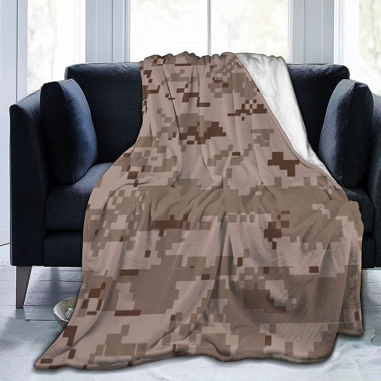 Tulsa Mall Desert Army Camouflage Bed Blanket Breathable Throw Blank Fleece sale