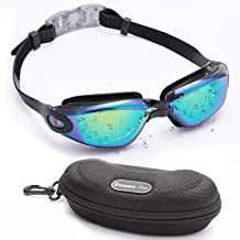 BEZZEE PRO Swim Goggles, Swimming Goggles No Leaking with Free Protection Case UV Protection Triathlon Unisex for Adult Men Women