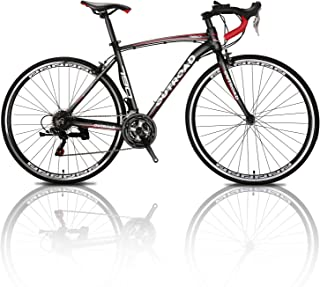 Outroad Road Bike Mountain Bike 700c 21 Speed 26 inch Commuter Bicycle (Black, Blue, Silver)
