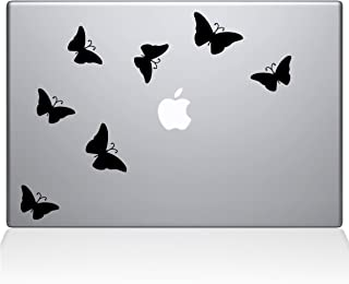 "The Decal Guru 1029-MAC-15X-BLA Butterflies Decal Vinyl Sticker, 15"" Macbook Pro (2016 & newer), Black"