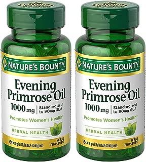 Evening Primose Oil 1000 mg, 2 Bottles (60 Count)