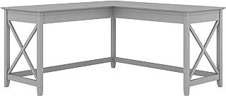 Bush Furniture Key West 60W L Shaped Desk, Cape Cod Gray