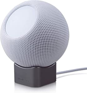 Thankscase Stand for HomePod Mini, Aluminum Desktop HomePod Mini Stand with Adjustable Placement Angle, HomePod Mini Rotating Stand. (Space Gray)