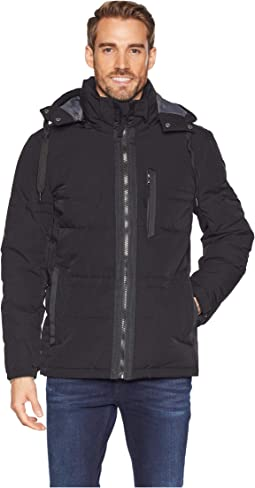 60/40 Crinkle Down Mid Length Hooded Jacket