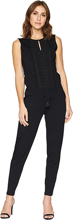 Light Weight Straight Modal Jersey Jumpsuit