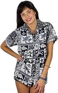 Funky Hawaiian Blouse VHO-Puzzle Black XS
