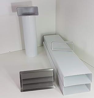 VentilationNord Canal plat 220 x 90 mm transition sur rond /Ø 150 mm avec rotation /à 90 /° au-dessus de la hotte.