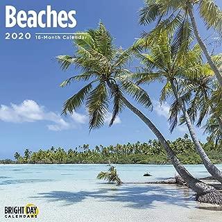 2020 Beaches Calendar 16 Month 12 x 12 Wall Calendar by Bright Day Calendars
