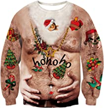 ugly christmas sweater hairy chest