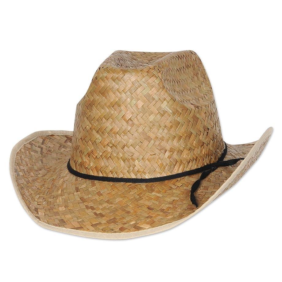 Beistle Hi-Crown Western Hat w/Shoelace Band Pkg/12