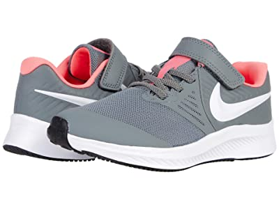 Nike Kids Star Runner 2 (Little Kid) (Smoke Grey/White/Sunset Pulse/Black) Kids Shoes