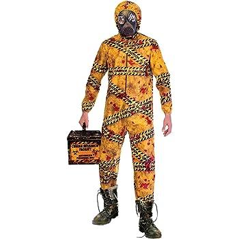 Amscan Disfraz de Zombie Quarantine Biohazard para Hombre de ...