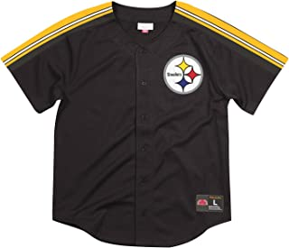 Mitchell & Ness Pittsburgh Steelers Winning Team Men's Button Up Jersey Shirt