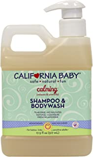 California Baby Calm Shampoo and Body Wash - Hair, Face, and Body | Gentle, Fragrance Free, Allergy Tested | Dry, Sensitive Skin 17 Ounces