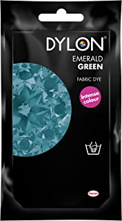 Dylon Hand Fabric Tie Dye used Worldwide by Best Designers, Multi-Purpose, Suitable for Small Natural Fabrics, Permanent and Easy to Apply, Color: Emerald Green, Size: 1.76 oz (50 grams)