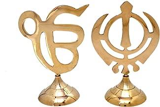 Hashcart Sikh Religious Symbol IK ONKAR & Khanda Showpiece for Home Decor, Office, Car - (5.5 Inch)