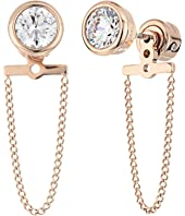 Michael Kors - Brilliance CZ Stud Chain Earrings