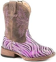 ROPER Girls' Metallic Zebra Western Boot Square Toe