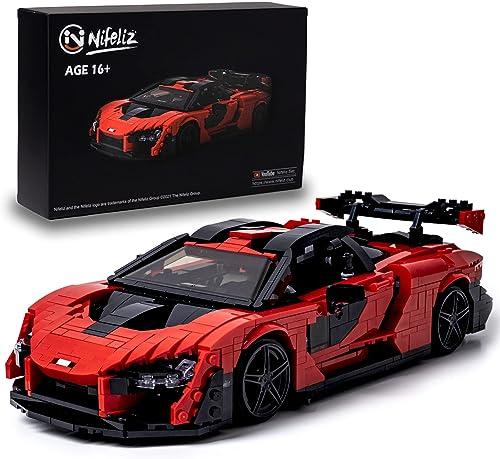 wholesale Nifeliz Super car Sanna MOC Building Blocks and Construction Toy, lowest Adult Collectible Model Cars Set to Build, high quality 1:12 Scale Sports Car Model (1182 Pcs) sale