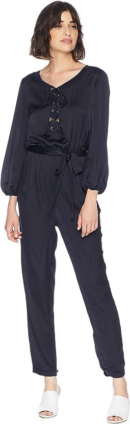 Lace-Up Jumpsuit