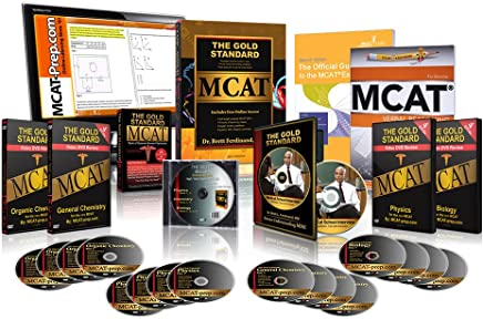 2012 Ed. Gold Standard MCAT Prep Kit with Examkrackers VR, Past Practice Tests Q & A and 10 CBTs
