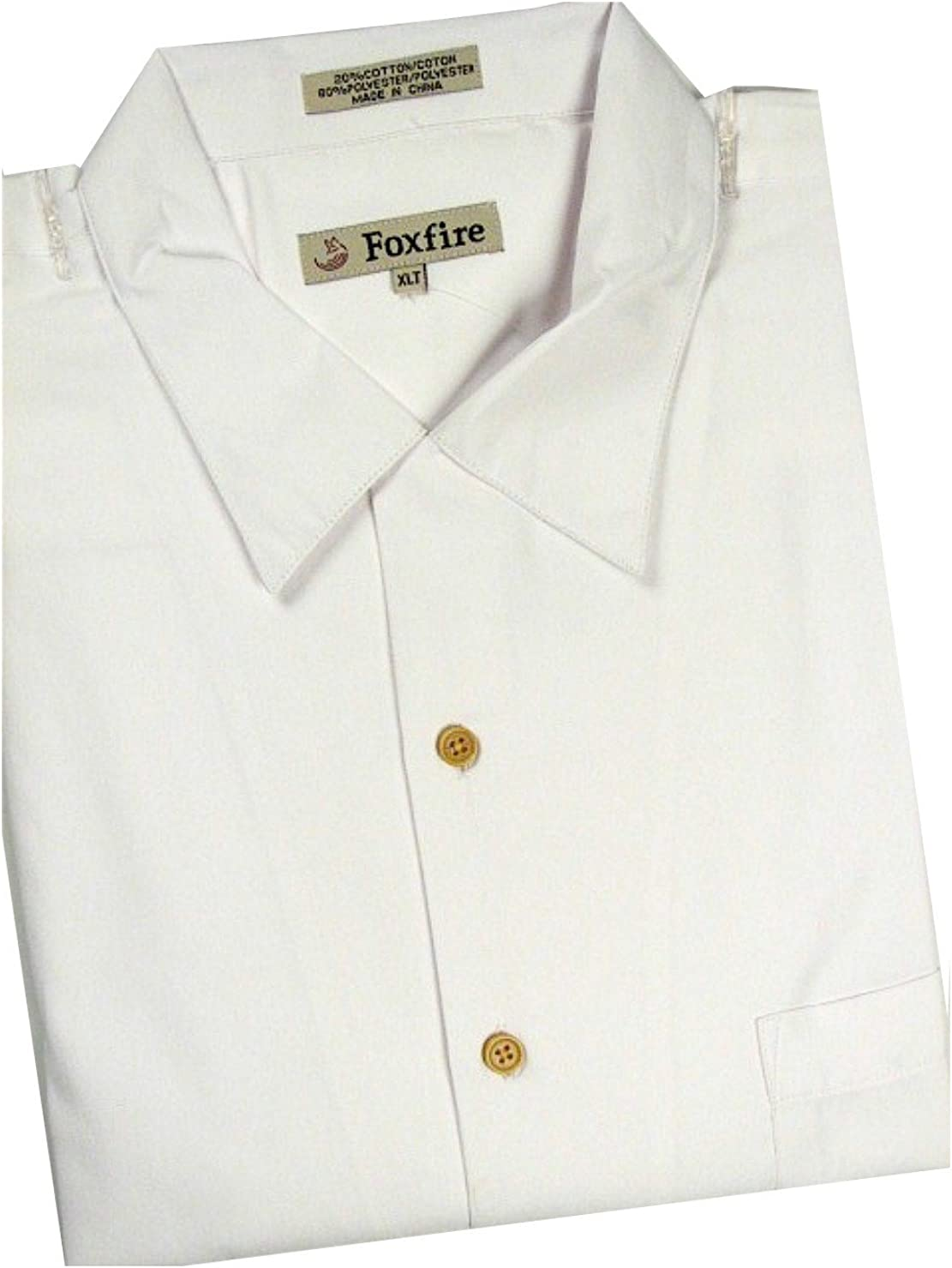 FOXFIRE Big and Tall Easy Care Solid Camp Shirt