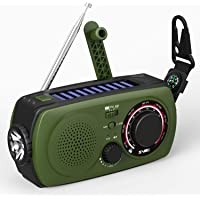 VMEI Q9 Emergency Weather Solar Hand Crank Portable Radio (Green)